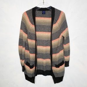 Gap Novelty Ope Front Striped Cardigan